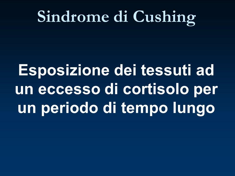 Sindrome di Cushing Esposizione dei tessuti ad un eccesso di cortisolo per un periodo di tempo lungo.