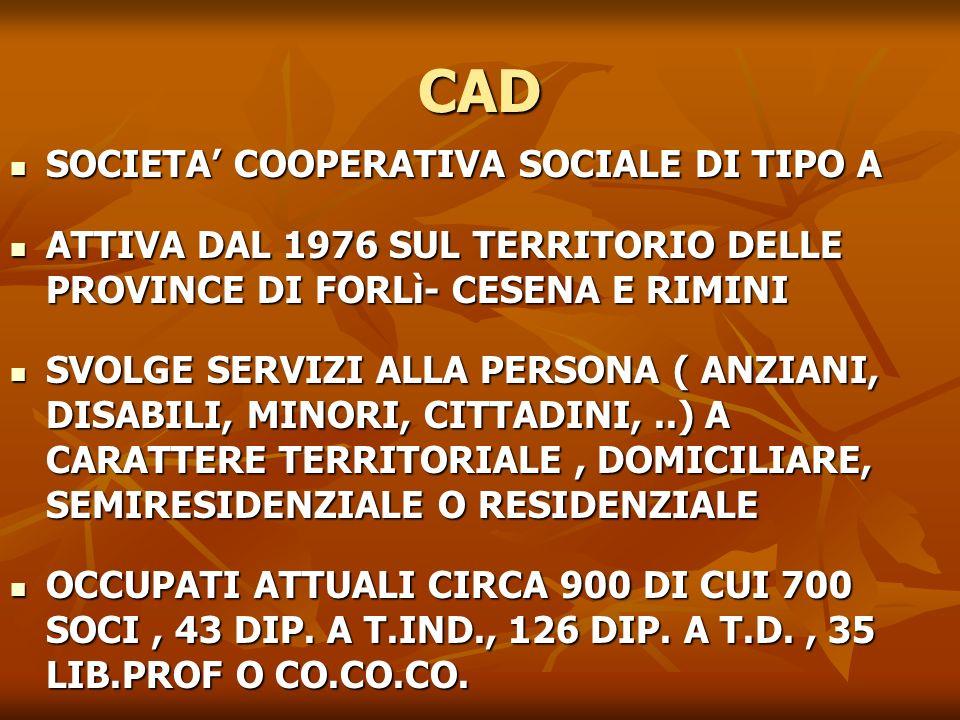 CAD SOCIETA' COOPERATIVA SOCIALE DI TIPO A
