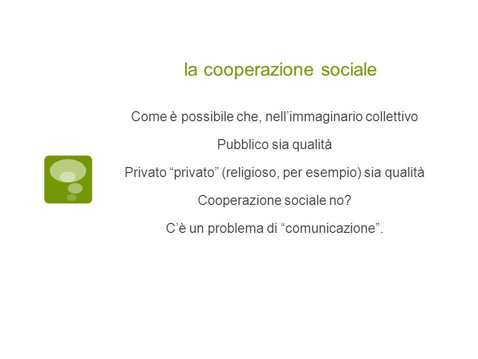 la cooperazione sociale