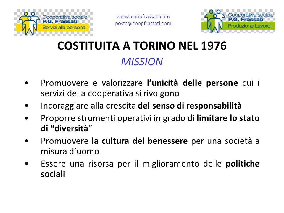 COSTITUITA A TORINO NEL 1976