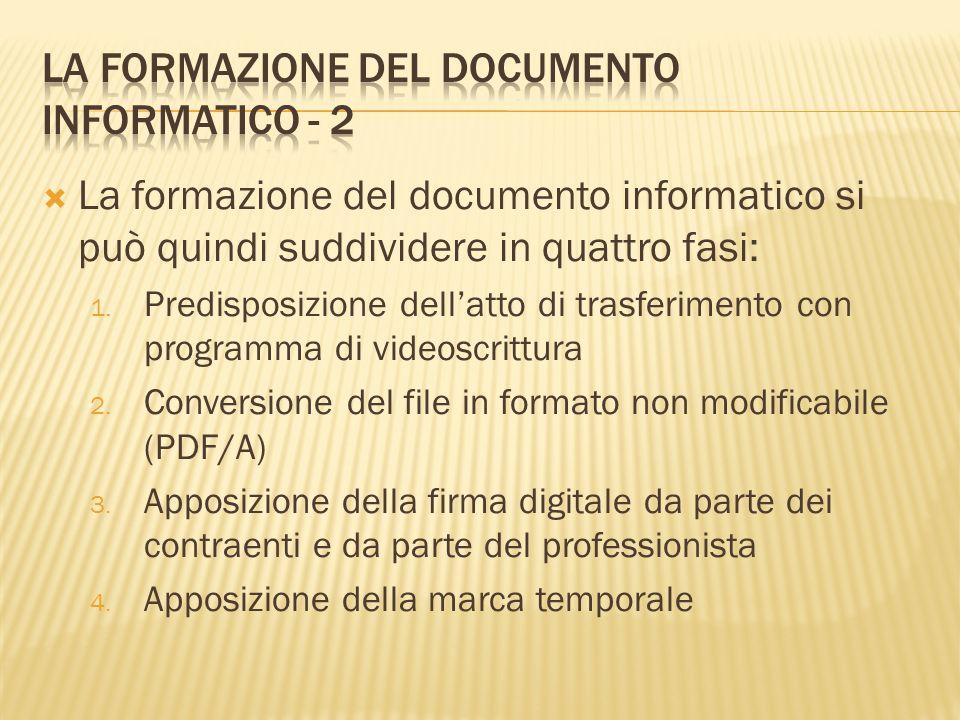 La formazione del documento informatico - 2