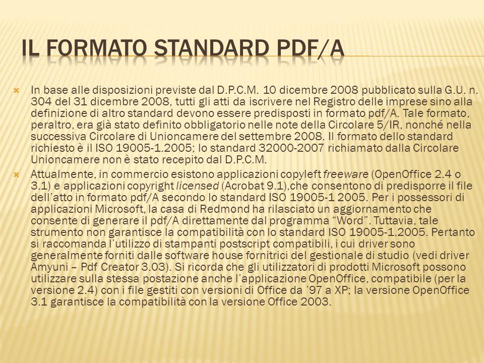 Il formato standard PDF/A