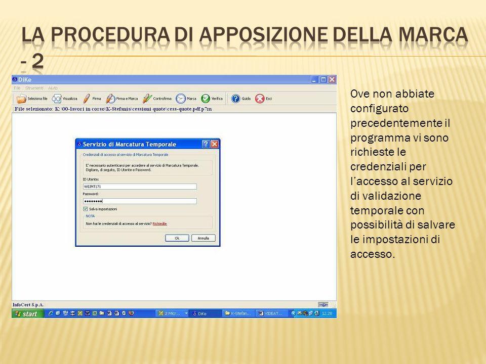 La procedura di apposizione della marca - 2