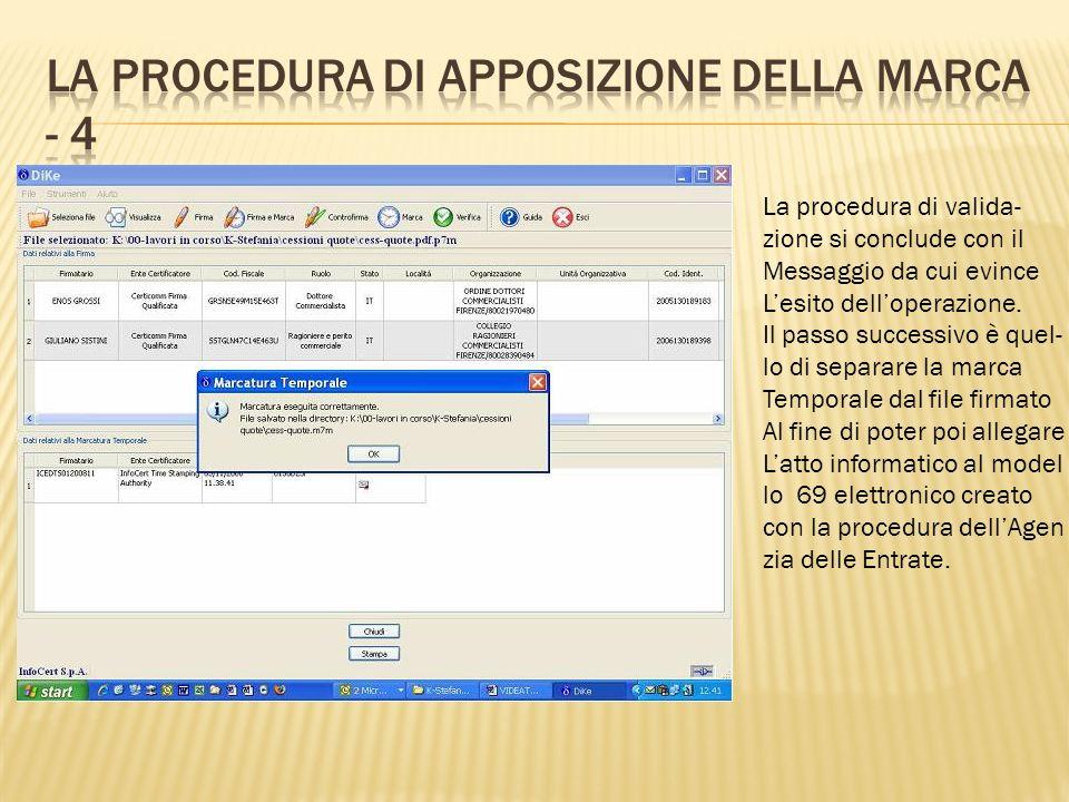 La procedura di apposizione della marca - 4