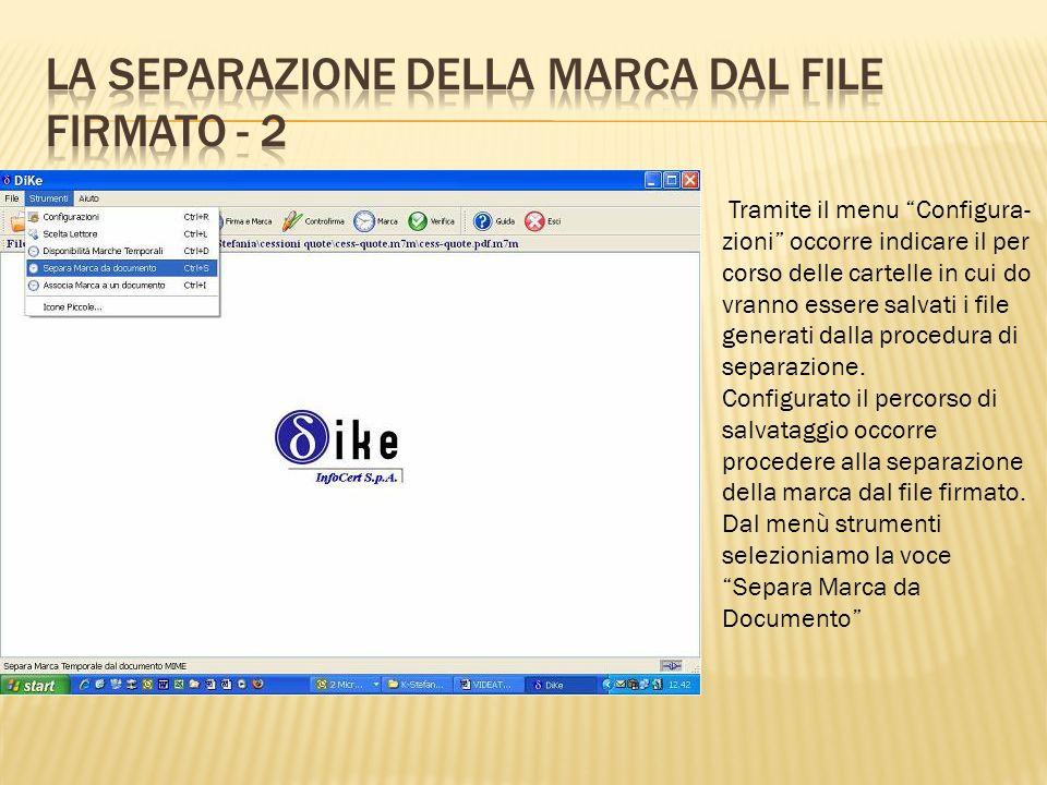 La separazione della marca dal file firmato - 2
