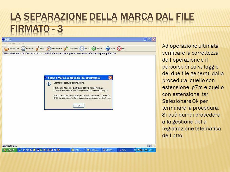 La separazione della marca dal file firmato - 3