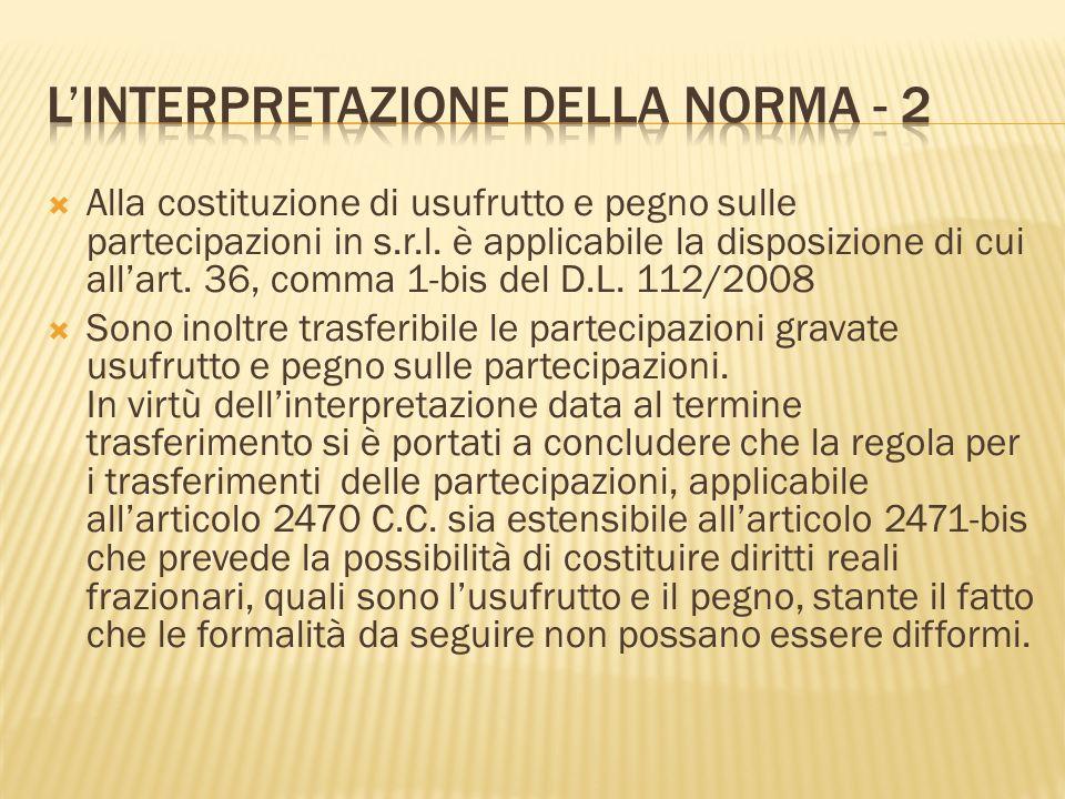 L'interpretazione della norma - 2