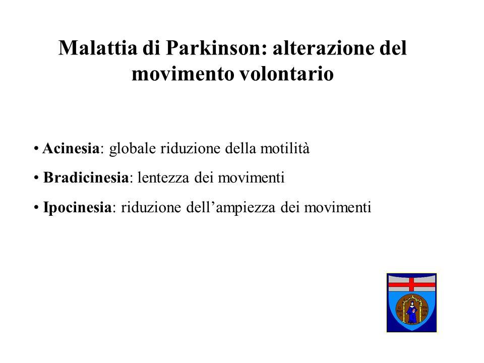 Malattia di Parkinson: alterazione del movimento volontario