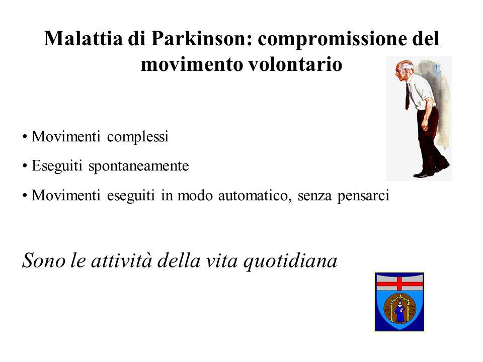 Malattia di Parkinson: compromissione del movimento volontario