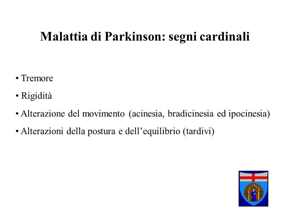 Malattia di Parkinson: segni cardinali