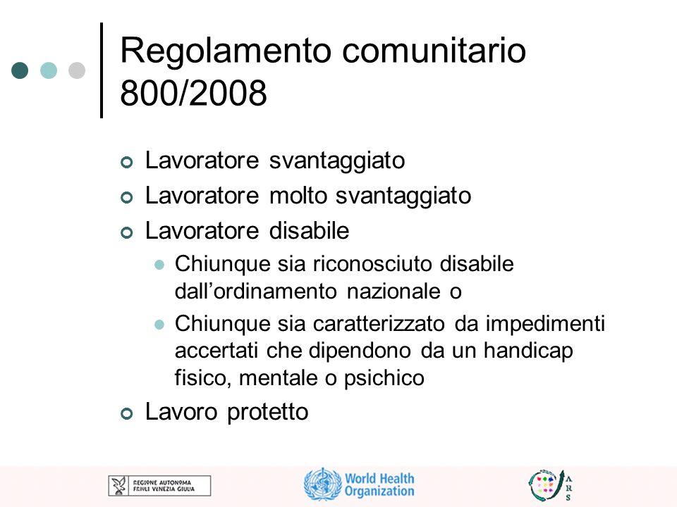 Regolamento comunitario 800/2008