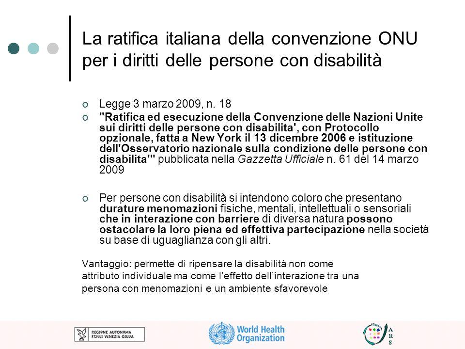 La ratifica italiana della convenzione ONU per i diritti delle persone con disabilità