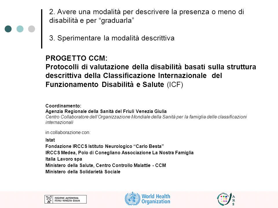 Protocolli di valutazione della disabilità basati sulla struttura