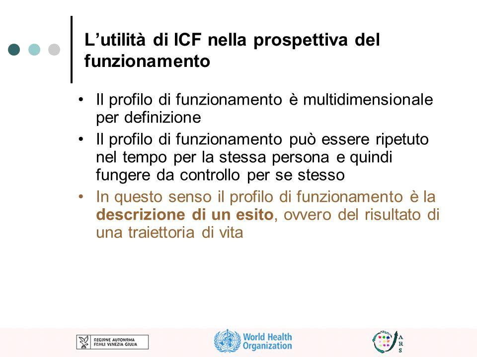 L'utilità di ICF nella prospettiva del funzionamento
