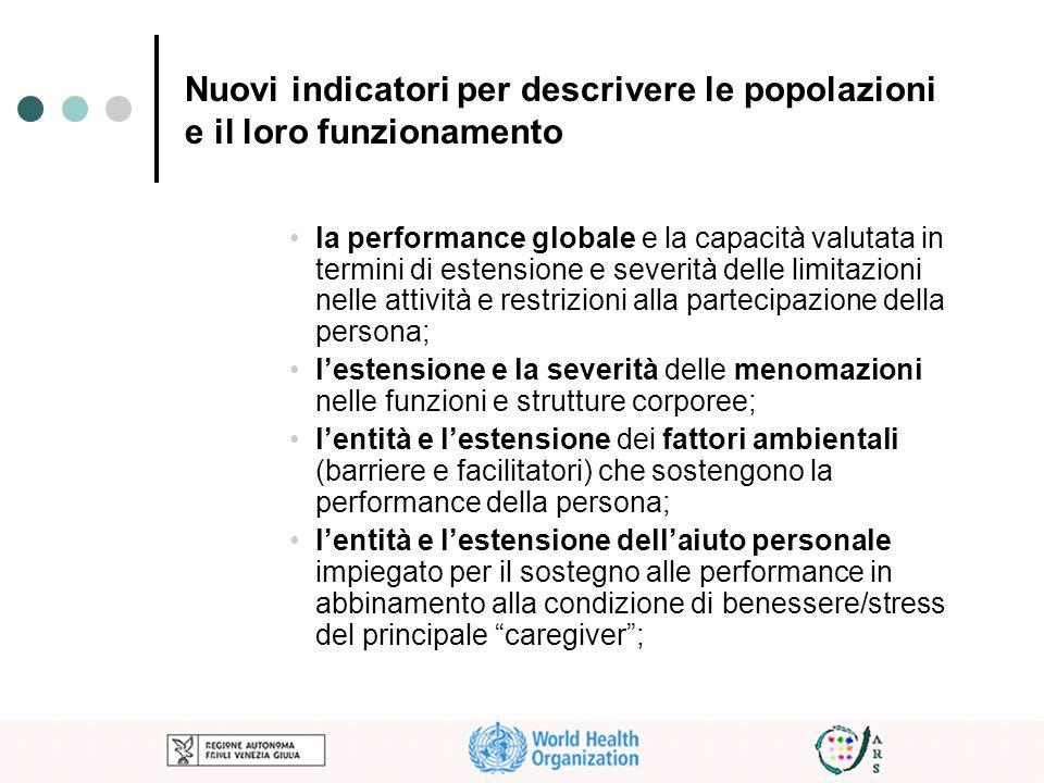 Nuovi indicatori per descrivere le popolazioni e il loro funzionamento