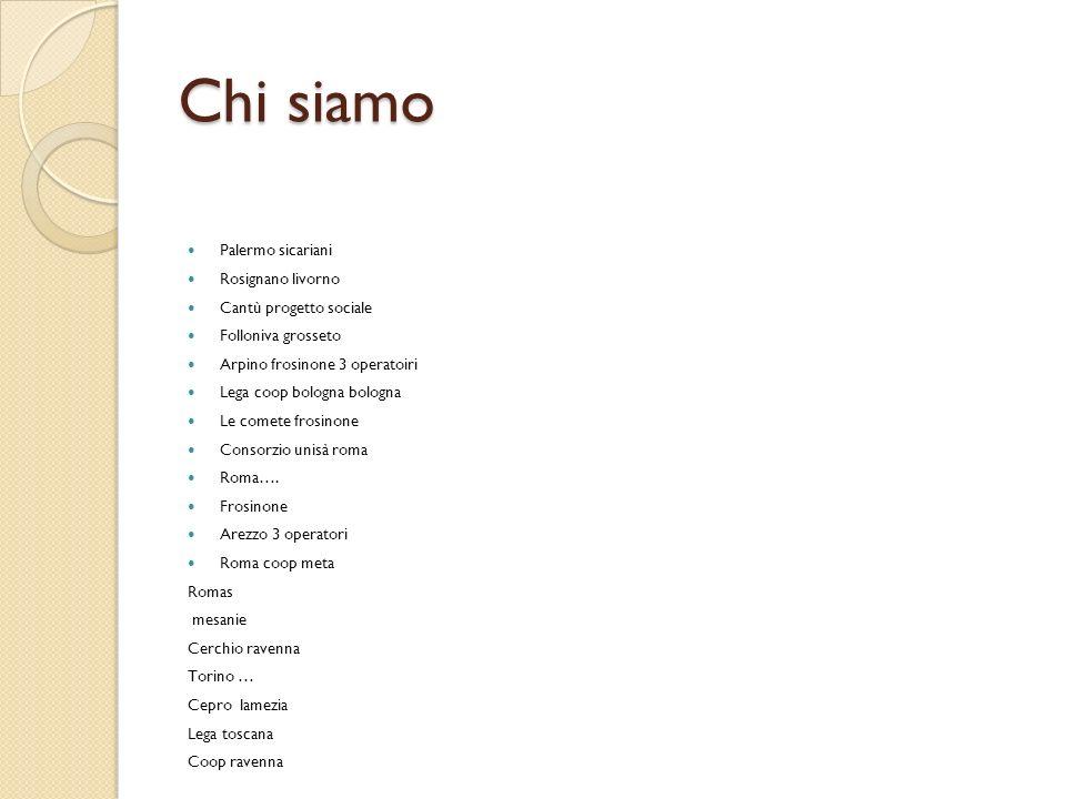 Chi siamo Palermo sicariani Rosignano livorno Cantù progetto sociale
