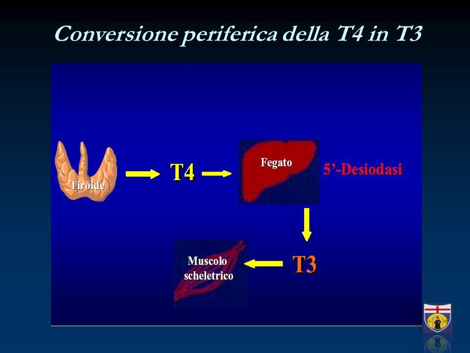 Conversione periferica della T4 in T3