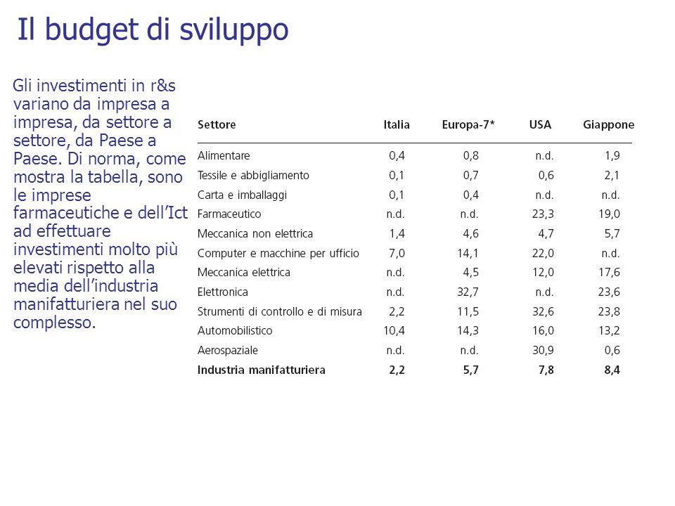 Il budget di sviluppo
