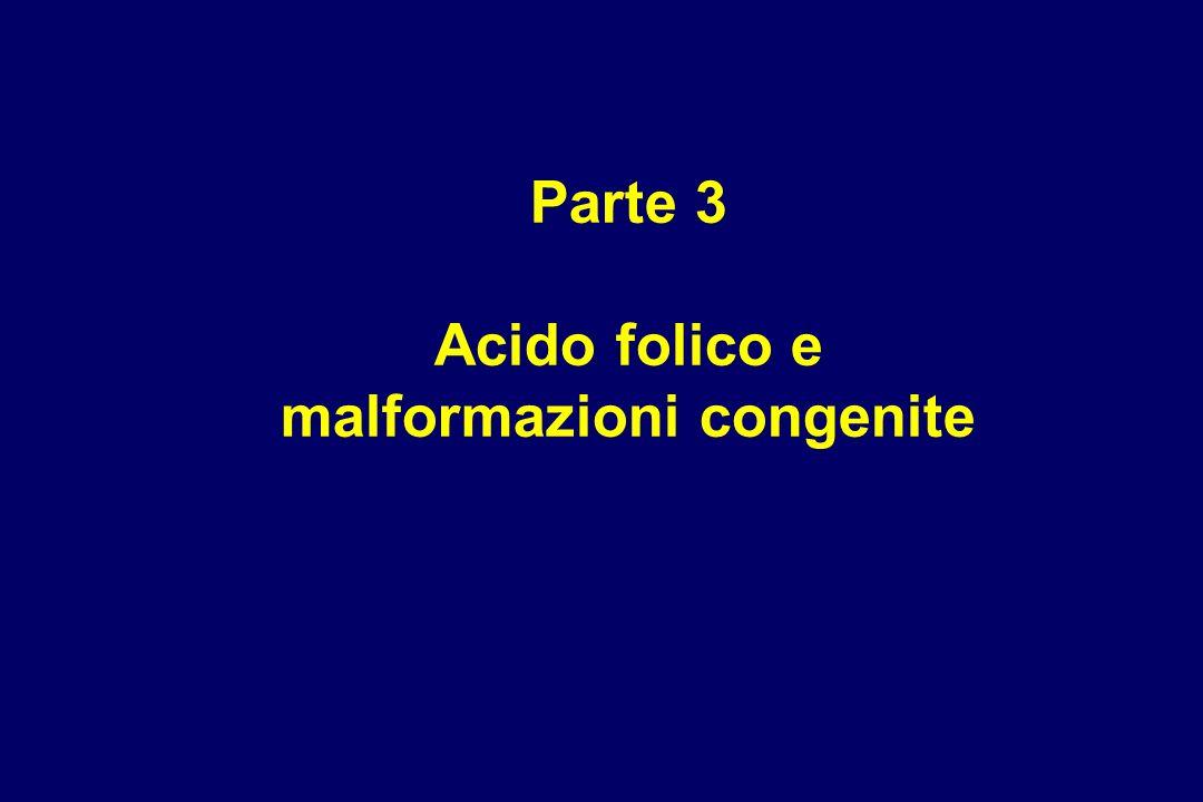 Parte 3 Acido folico e malformazioni congenite