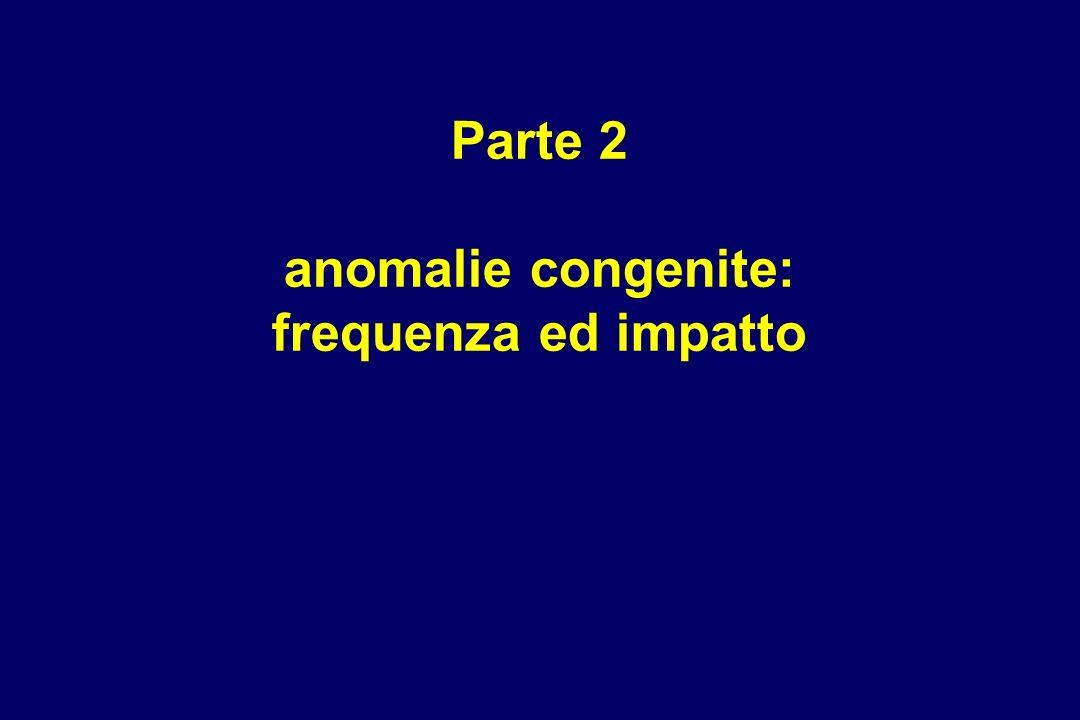 Parte 2 anomalie congenite: frequenza ed impatto