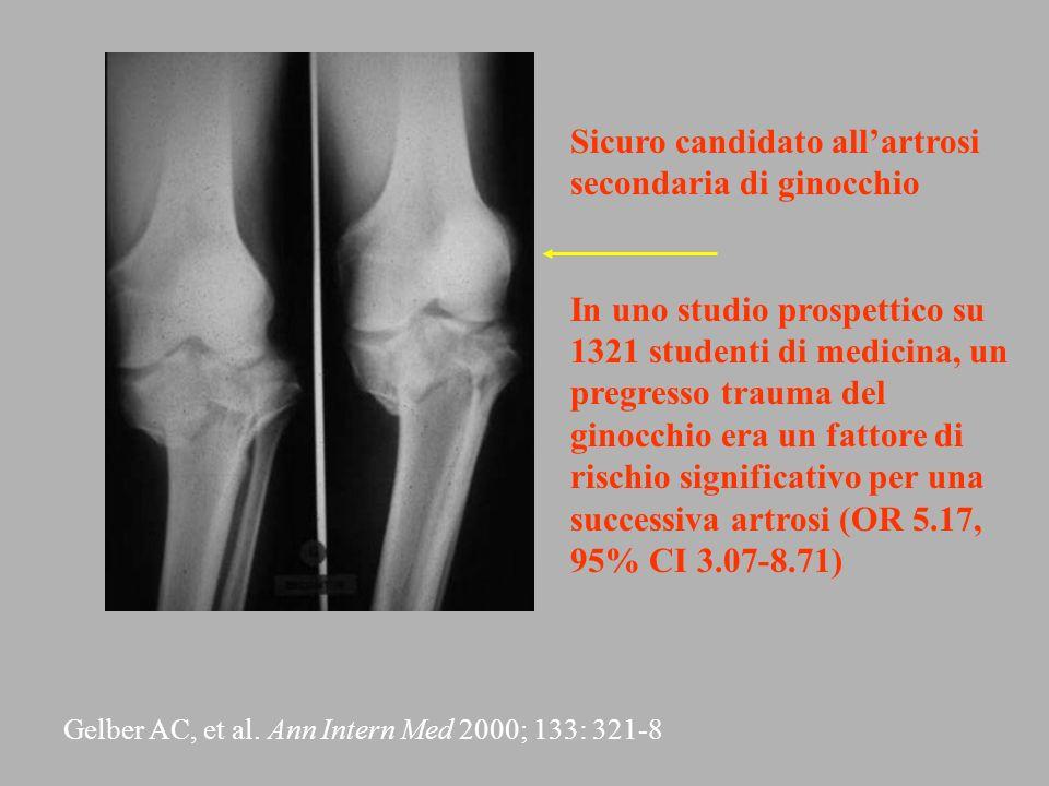 Sicuro candidato all'artrosi secondaria di ginocchio