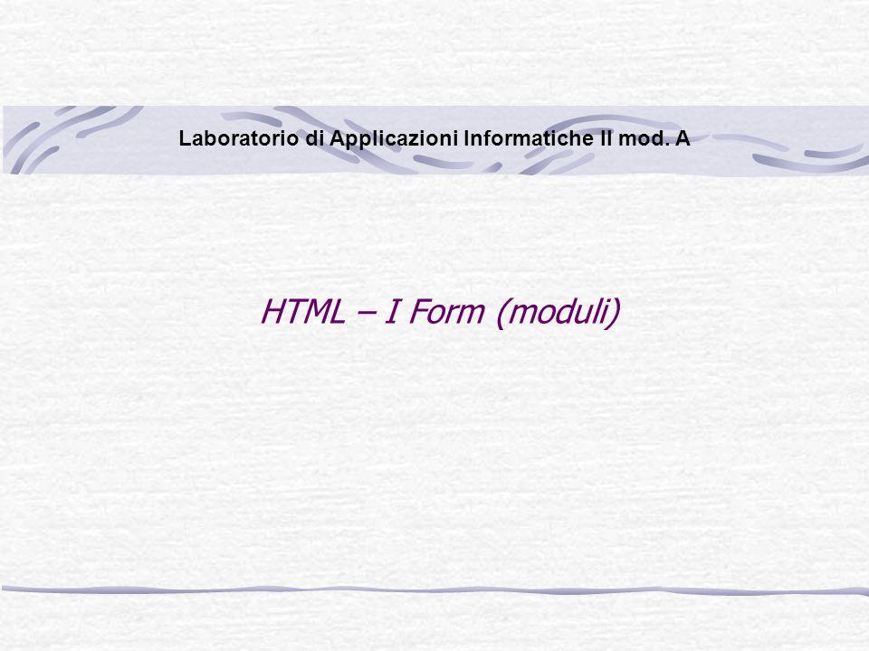 Laboratorio di Applicazioni Informatiche II mod. A