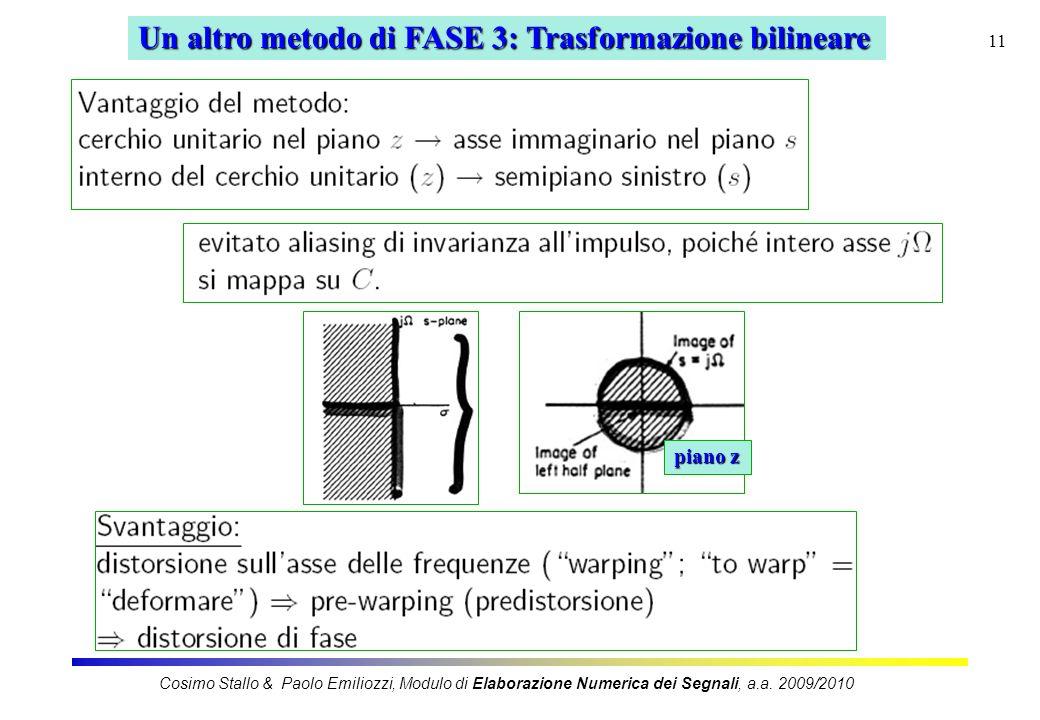 Un altro metodo di FASE 3: Trasformazione bilineare