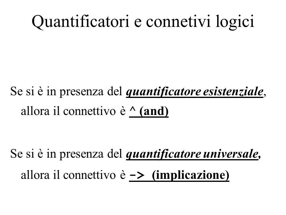 Quantificatori e connetivi logici
