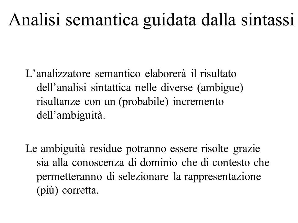 Analisi semantica guidata dalla sintassi