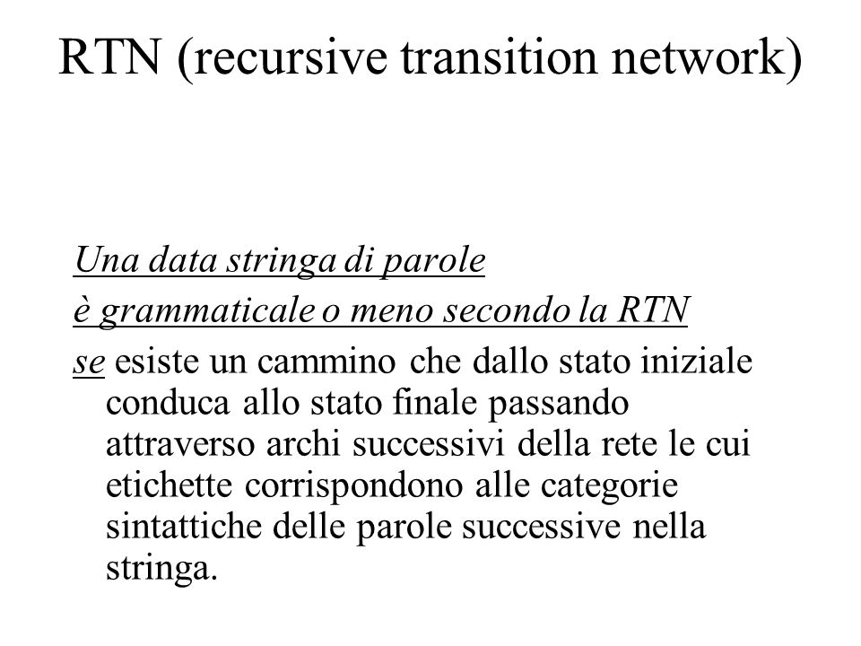 RTN (recursive transition network)
