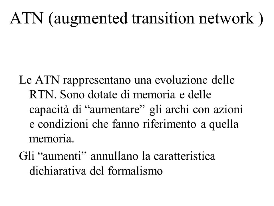 ATN (augmented transition network )