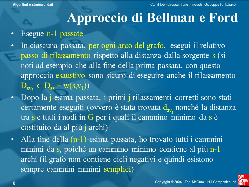 Approccio di Bellman e Ford