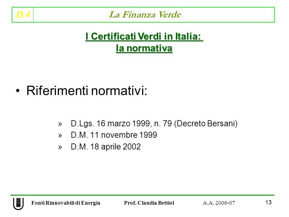 I Certificati Verdi in Italia: