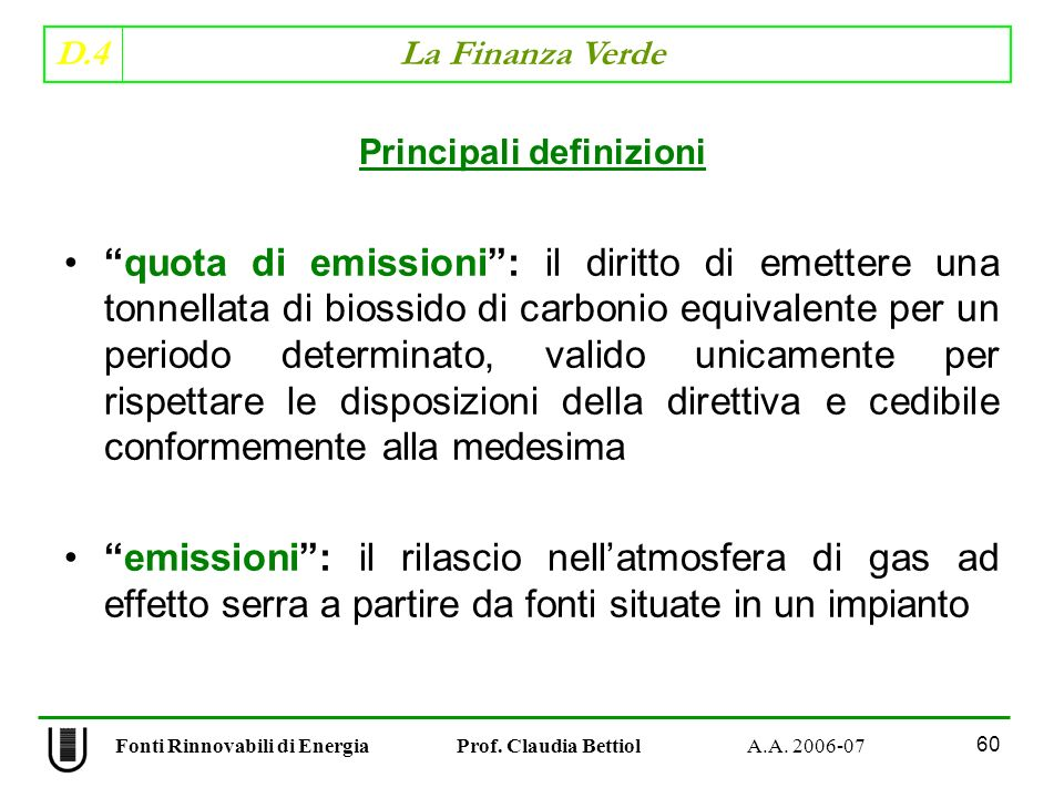 Principali definizioni