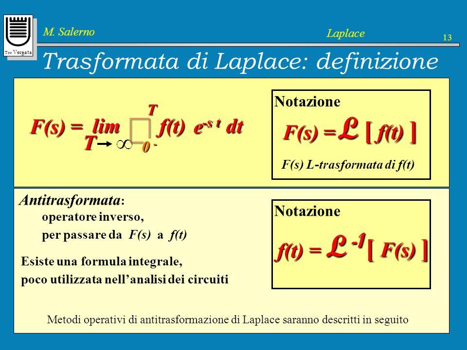 Trasformata di Laplace: definizione