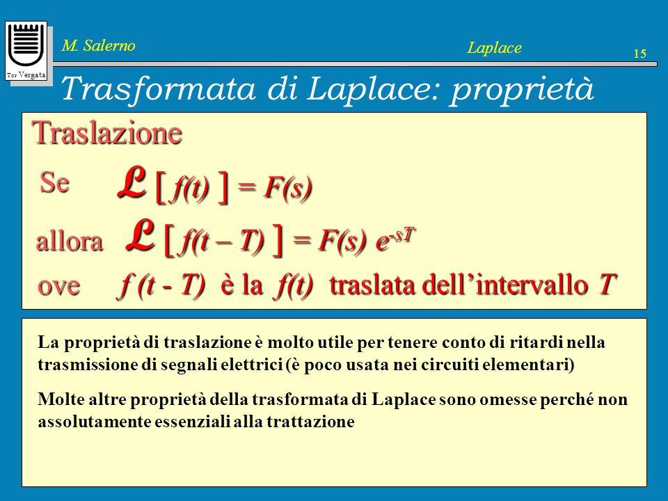 Trasformata di Laplace: proprietà