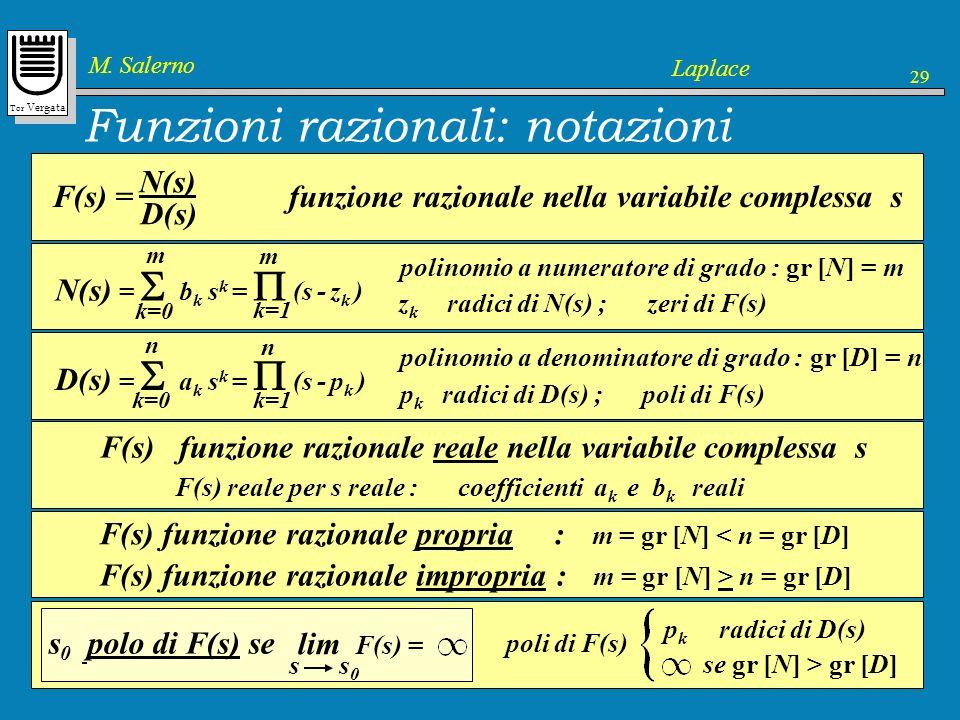 Funzioni razionali: notazioni