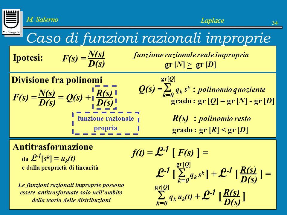 Caso di funzioni razionali improprie