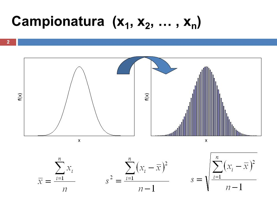 Campionatura (x1, x2, … , xn)