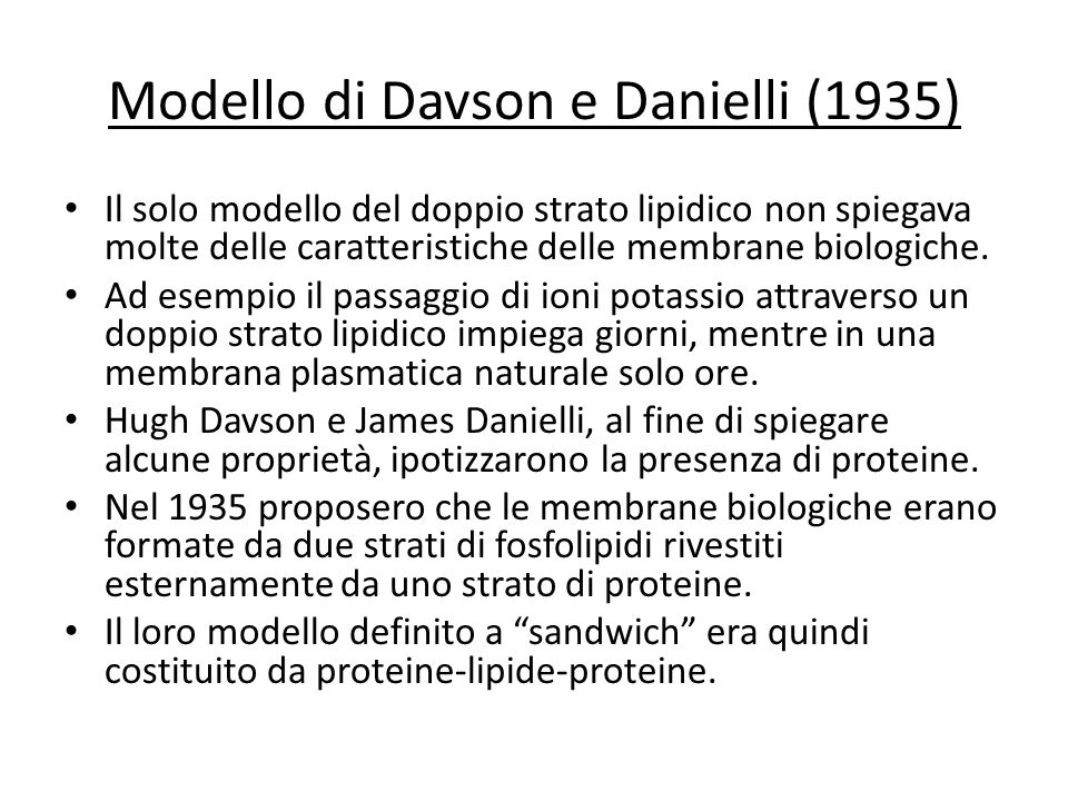Modello di Davson e Danielli (1935)