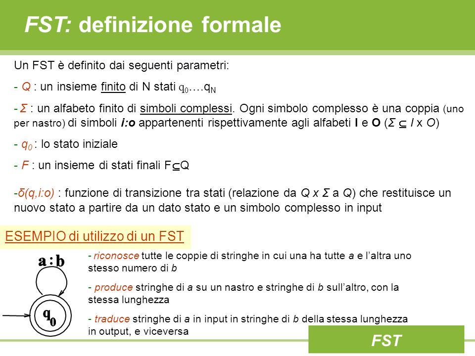 FST: definizione formale
