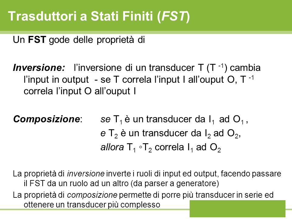 Trasduttori a Stati Finiti (FST)