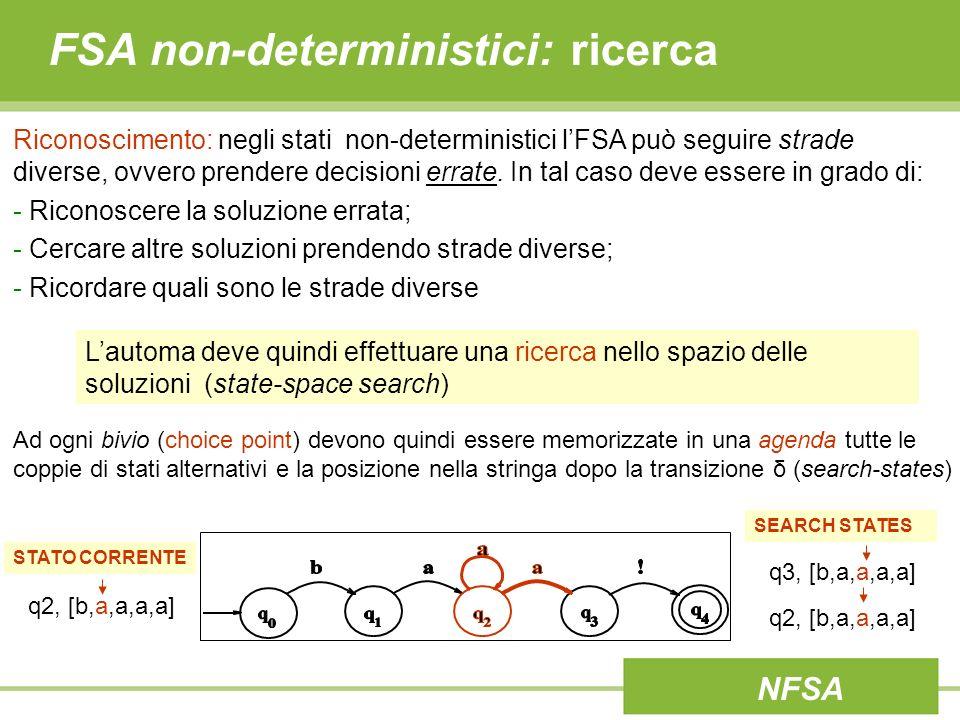 FSA non-deterministici: ricerca