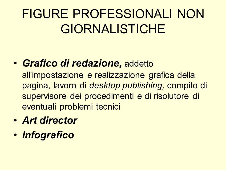 FIGURE PROFESSIONALI NON GIORNALISTICHE