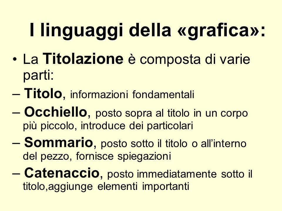 I linguaggi della «grafica»: