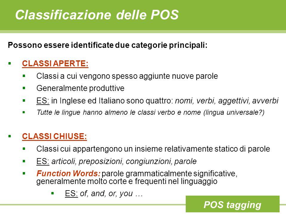 Classificazione delle POS
