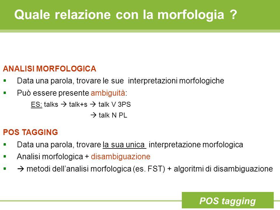 Quale relazione con la morfologia