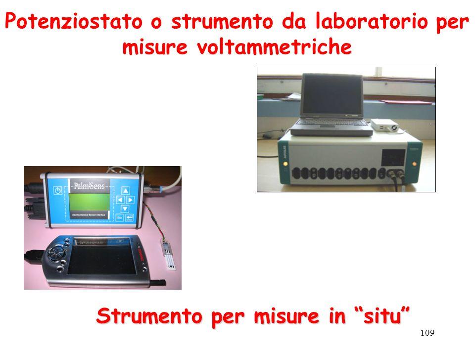 Potenziostato o strumento da laboratorio per misure voltammetriche