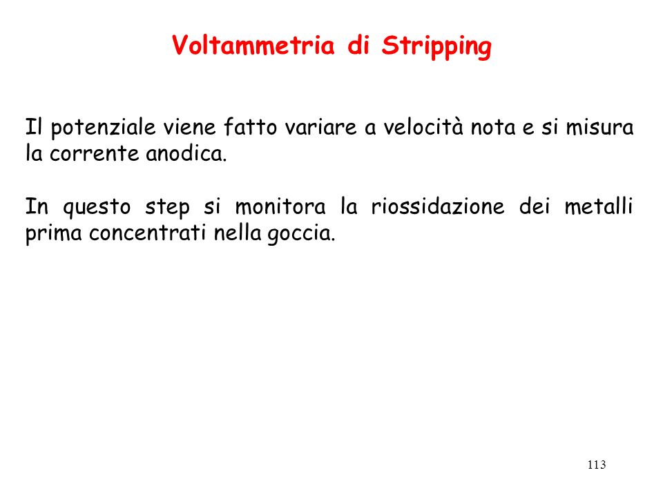 Voltammetria di Stripping