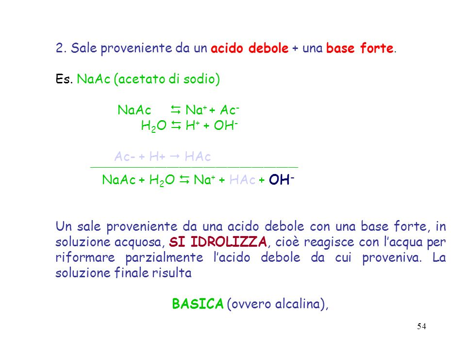 BASICA (ovvero alcalina),